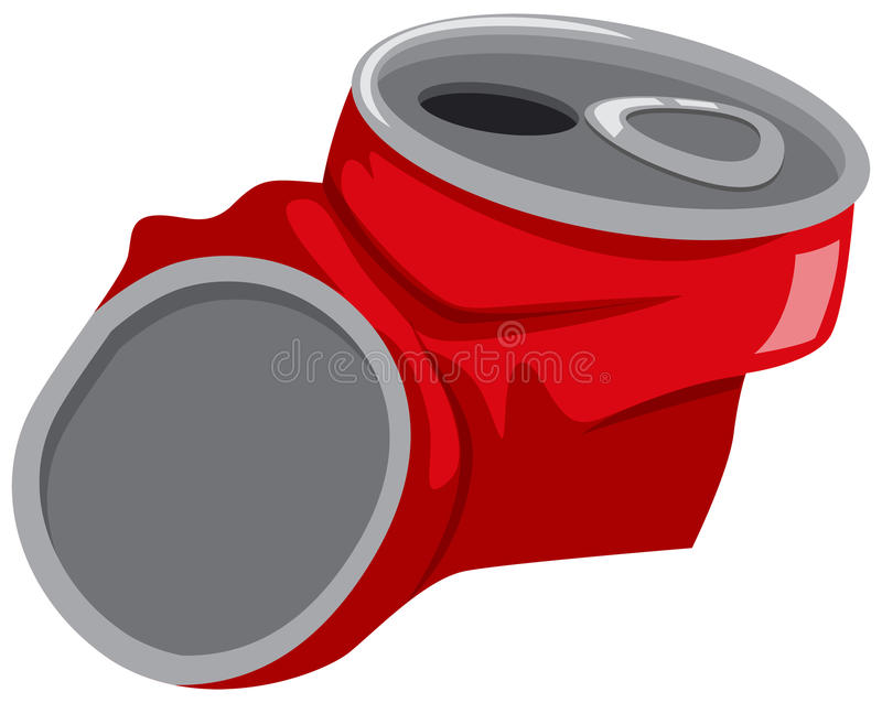El rojo puede siendo machacado stock de ilustración