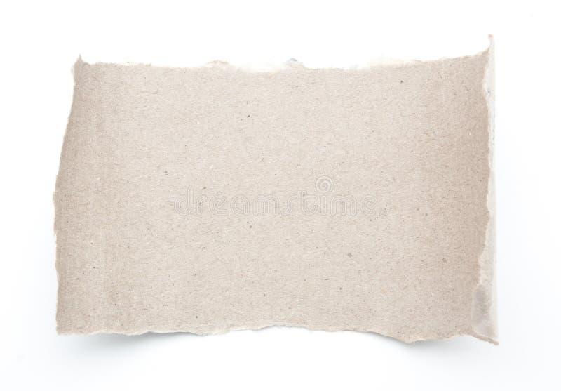 El rollo en blanco vacío recicla el papel de papel del rasgón fotos de archivo