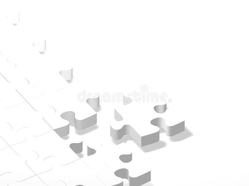 El rompecabezas blanco junta las piezas del fondo ilustración del vector