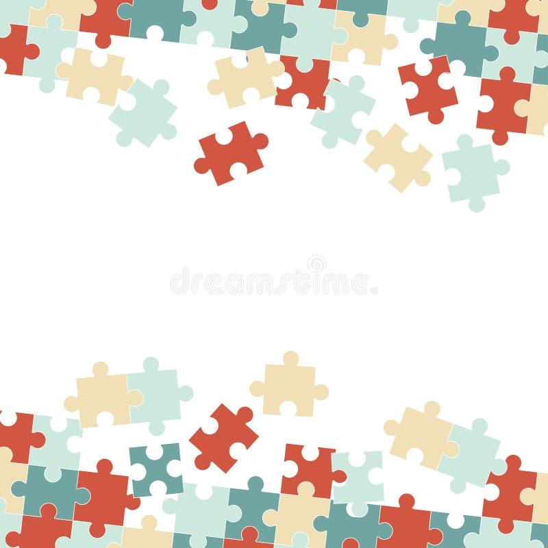 El rompecabezas junta las piezas del fondo ilustración del vector