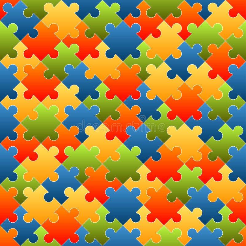 El rompecabezas junta las piezas del fondo coloreado - sin fin ilustración del vector