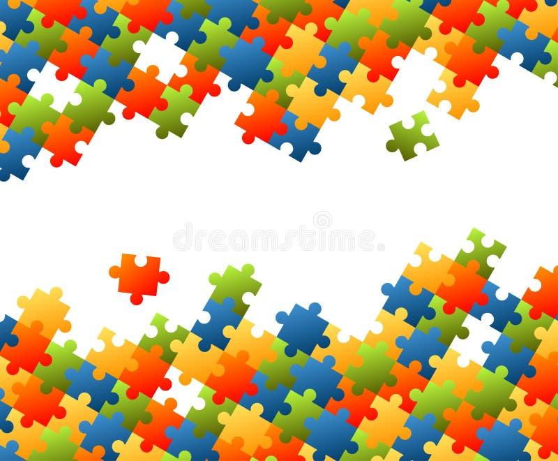 El rompecabezas junta las piezas del fondo colorido ilustración del vector