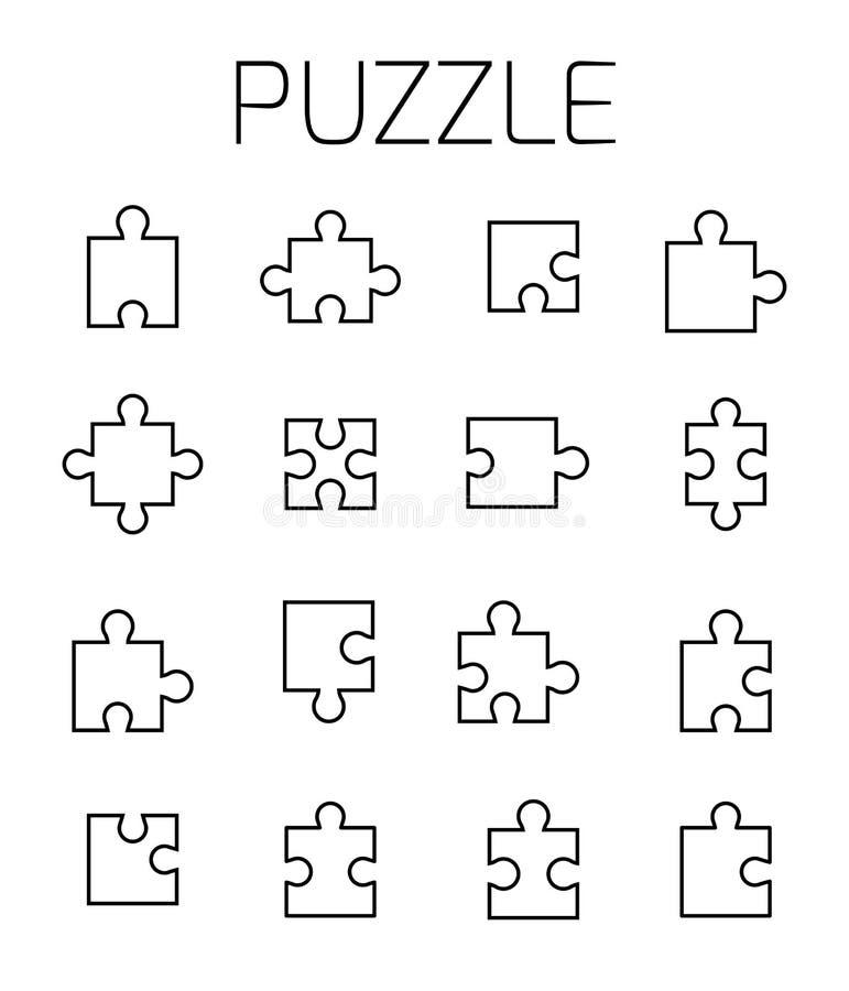 El rompecabezas relacionó el sistema del icono del vector libre illustration