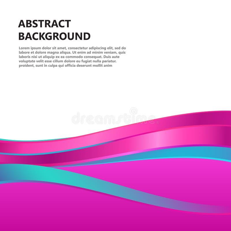 El rosa abstracto del vector agita el fondo libre illustration