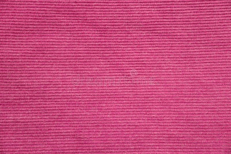 El rosa acanala textura de la tela imagenes de archivo