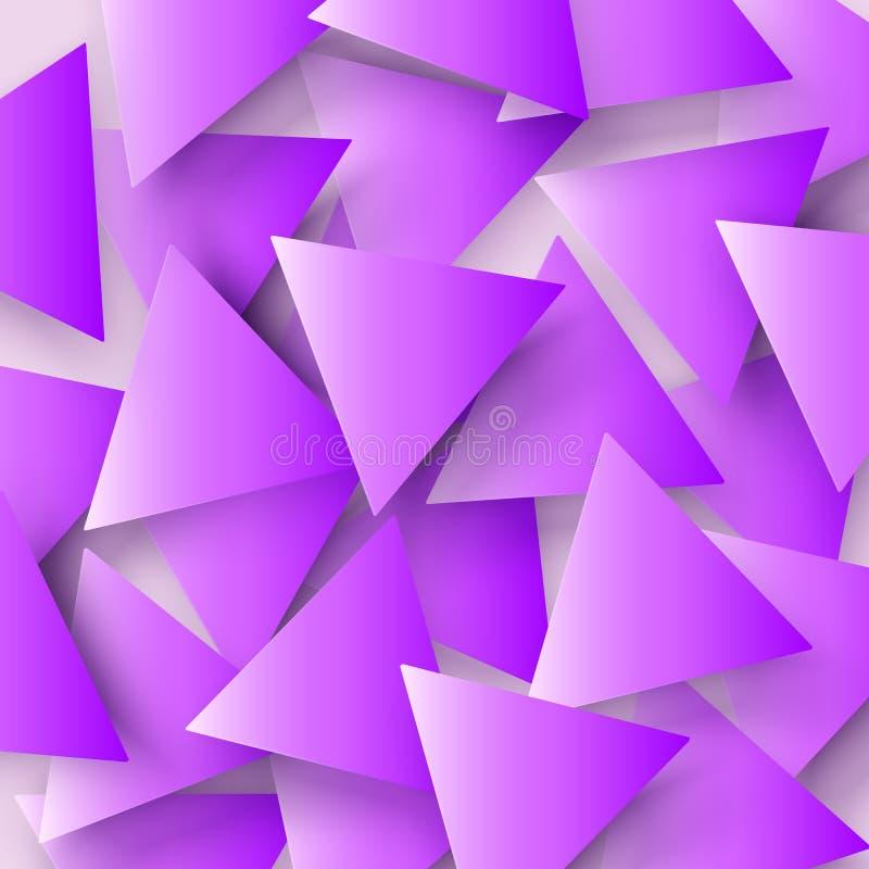 El rosa coloreó la textura geométrica poligonal abstracta, fondo del triángulo 3d Fondo triangular del mosaico para el web ilustración del vector
