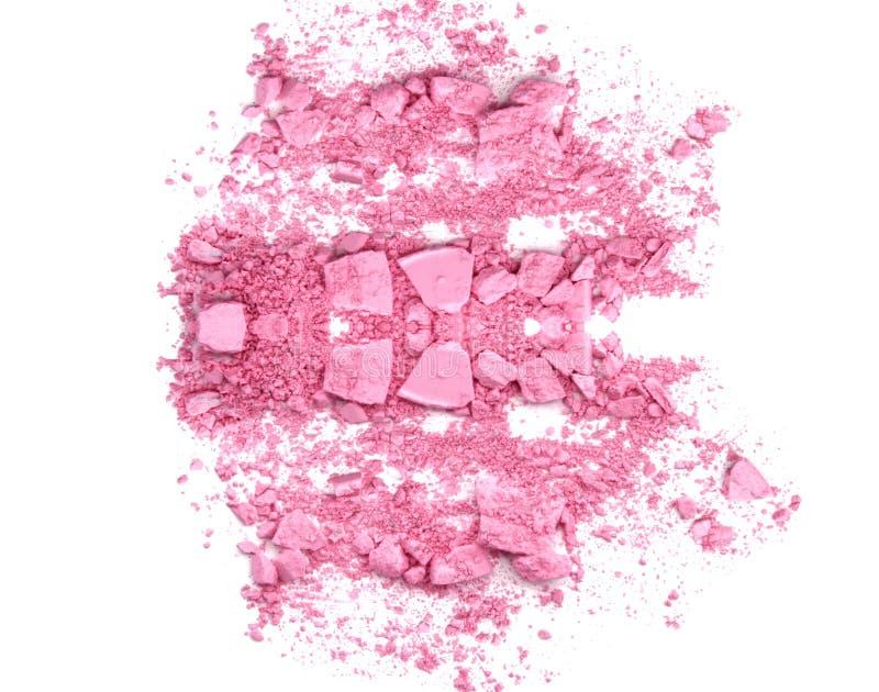 El rosa en colores pastel compone la sombra de ojos aislada en blanco imagen de archivo libre de regalías