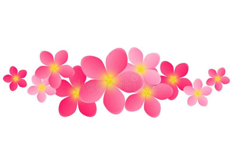El rosa florece el fondo ilustración del vector