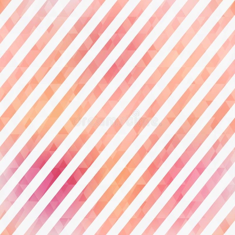 El rosa raya el modelo inconsútil ilustración del vector