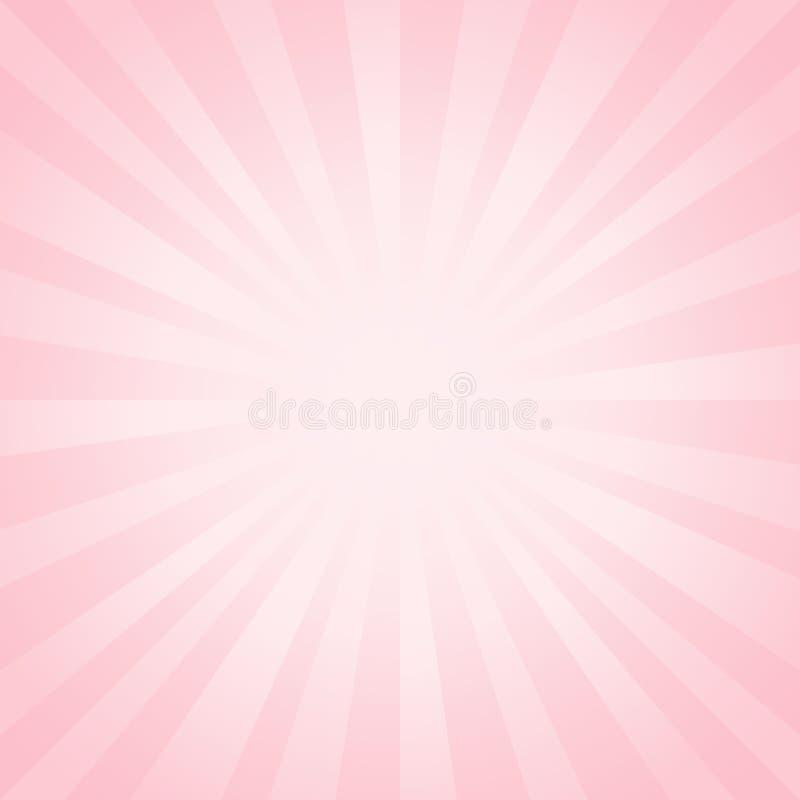 El rosa suave ligero abstracto irradia el fondo Vector ilustración del vector