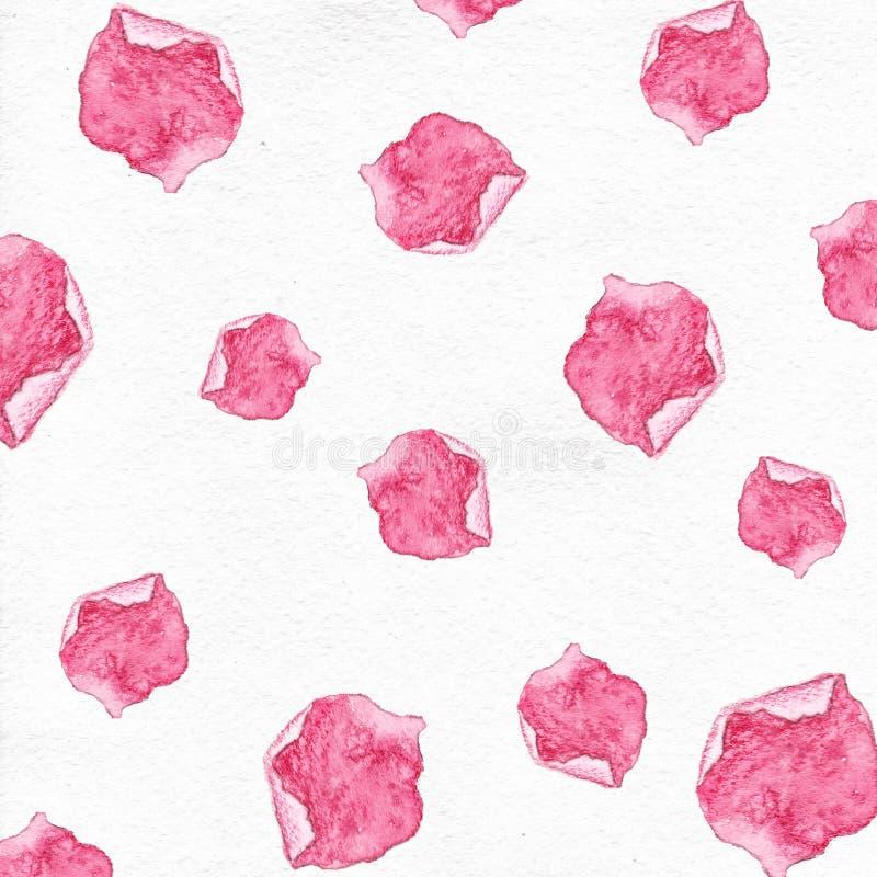 El rosa subió fondo de los pétalos, fondo de los pétalos de la acuarela libre illustration