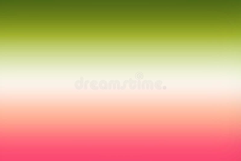 El rosa verde simple blured el fondo de la pendiente para el diseño del verano ilustración del vector