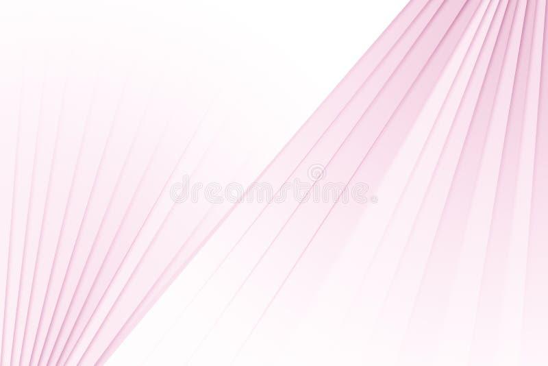 El rosa y el blanco abstractos del fondo texturizan geometri de la arquitectura stock de ilustración