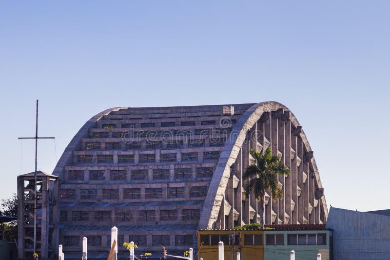 EL Rosario Church in San Salvador stockbild
