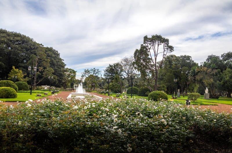 EL Rosedal Rose Park a Bosques de Palermo - Buenos Aires, Argentina immagine stock libera da diritti