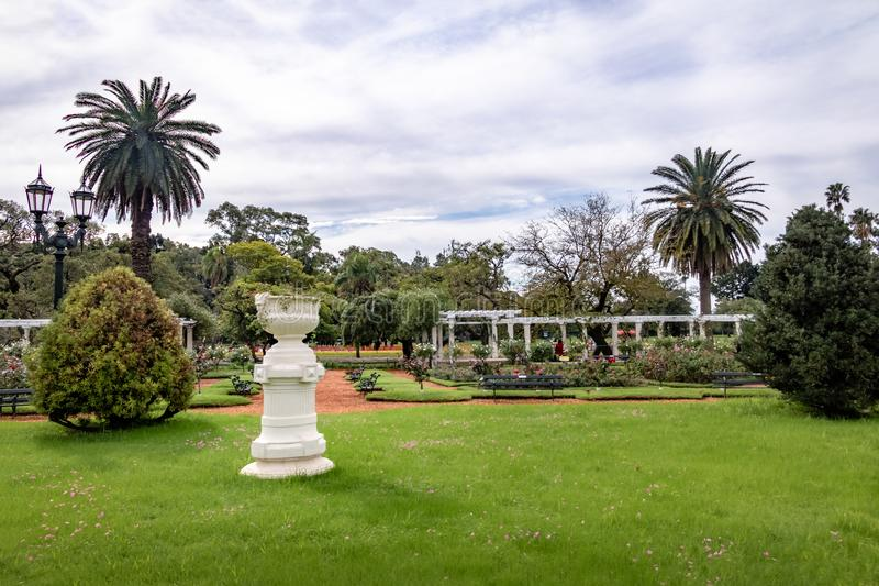 EL Rosedal Rose Park a Bosques de Palermo - Buenos Aires, Argentina immagine stock