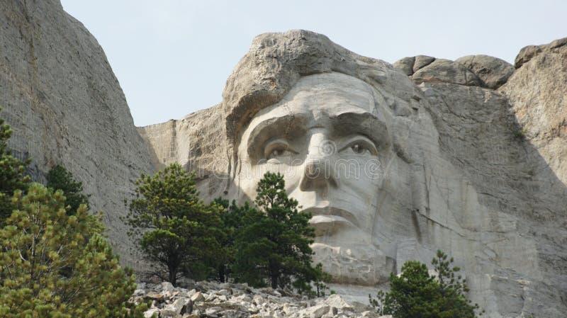 El rostro de Abraham Lincoln en el monte Rushmore imágenes de archivo libres de regalías