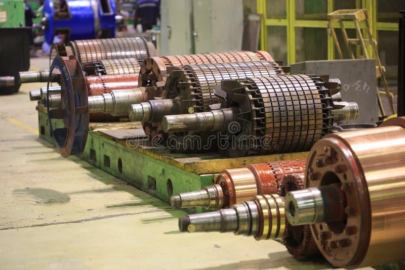 El rotor del motor eléctrico de la acción foto de archivo