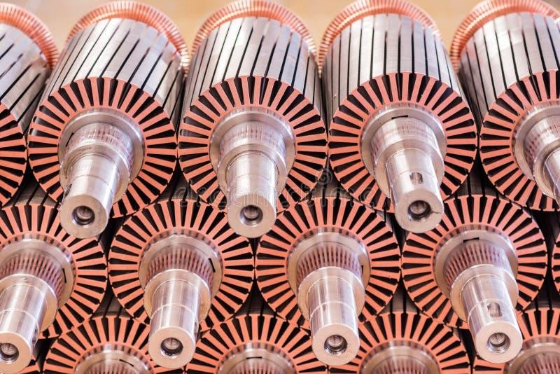 El rotor del motor eléctrico de la acción imagenes de archivo