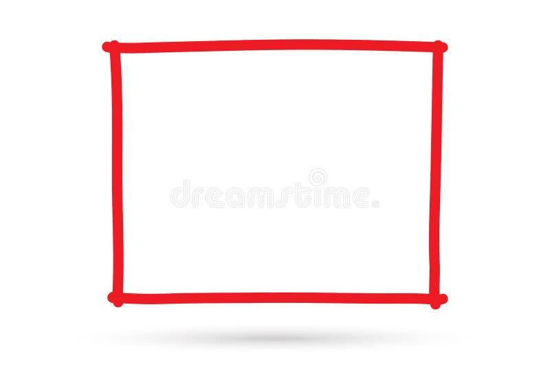 El símbolo cuadrado de dibujo popular de la muestra del marco de la frontera aisló libre illustration
