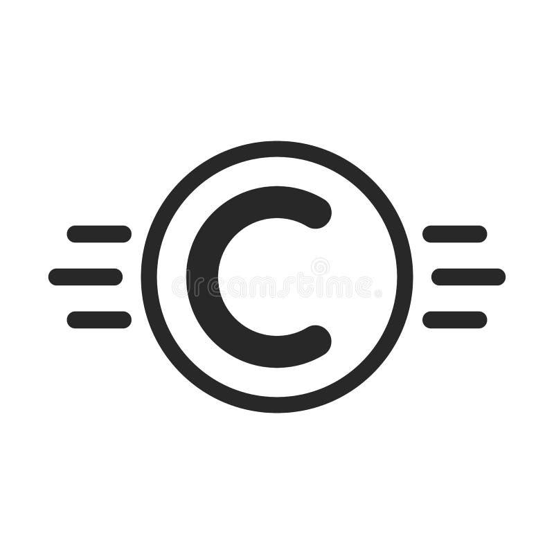 El símbolo de Copyright le gusta la propiedad intelectual stock de ilustración