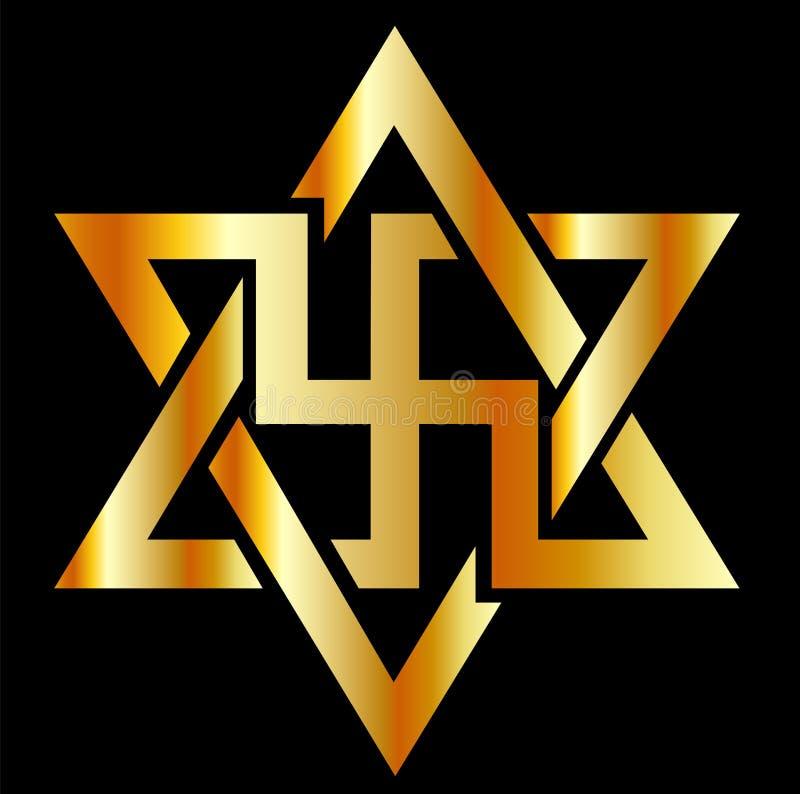 El símbolo de Raelians ilustración del vector