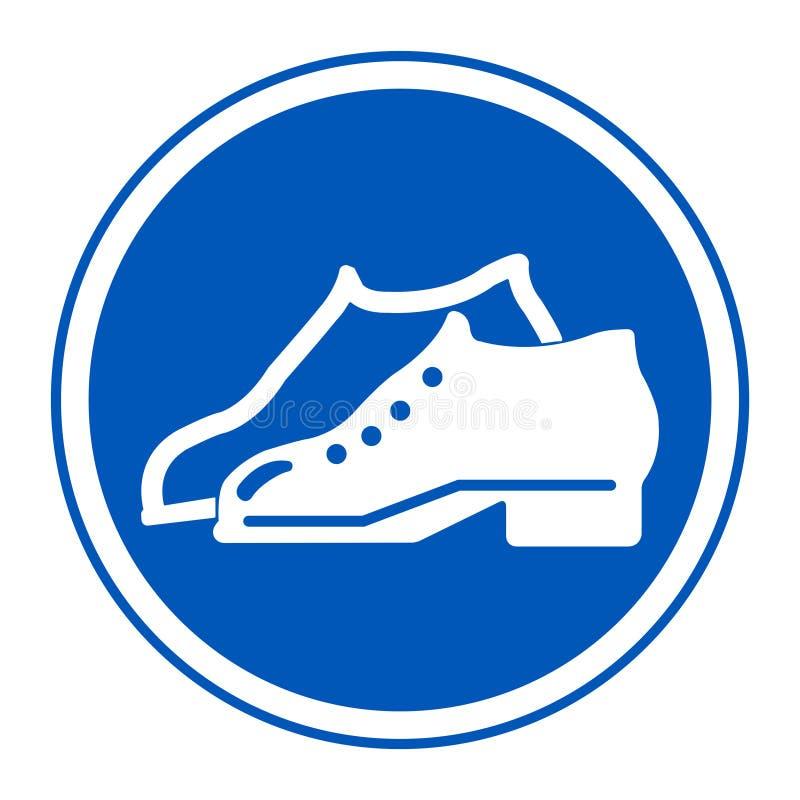 El símbolo incluyó los zapatos se requiere en el aislante de fabricación de la muestra del área en el fondo blanco, ejemplo EPS d libre illustration