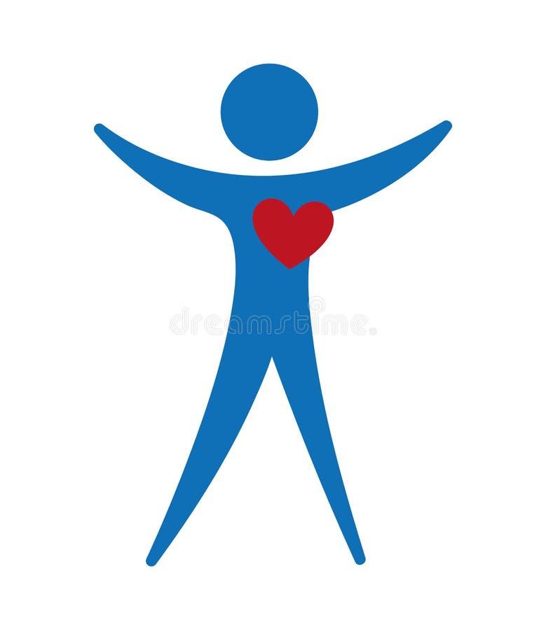 El símbolo sano del corazón aisló diseño del icono ilustración del vector