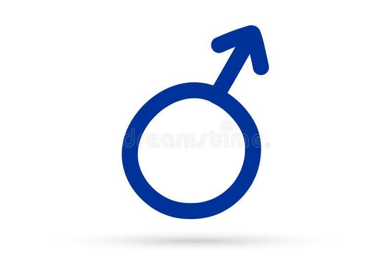 El s?mbolo sexual masculino de la muestra del dibujo popular aisl? libre illustration