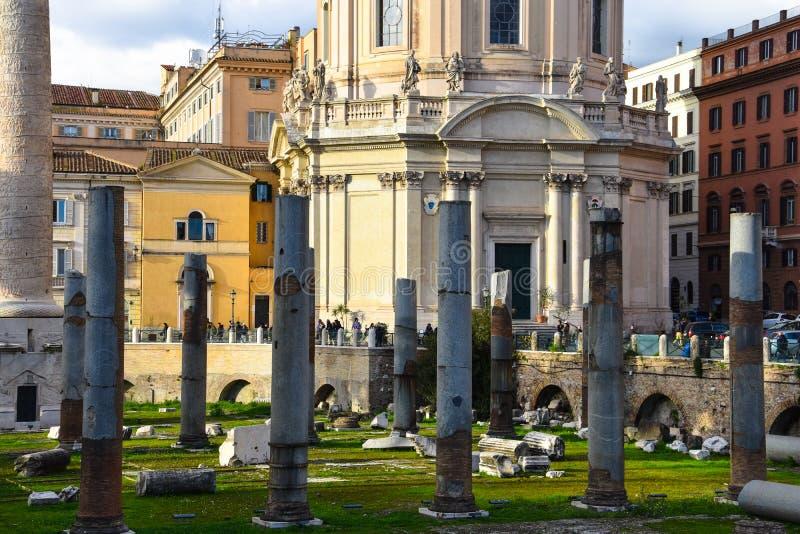 El ` s Forum Foro di Traiano de Trajan fotos de archivo