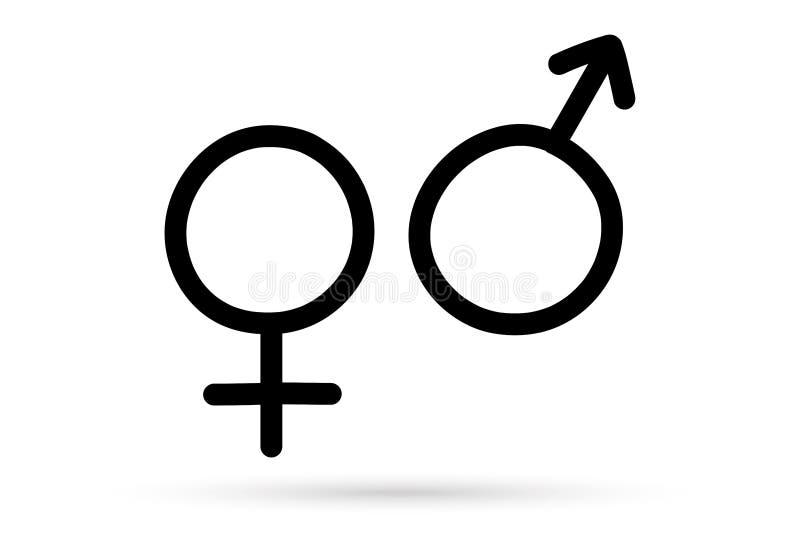 El s?mbolo sexual de la muestra del dibujo popular aisl? stock de ilustración