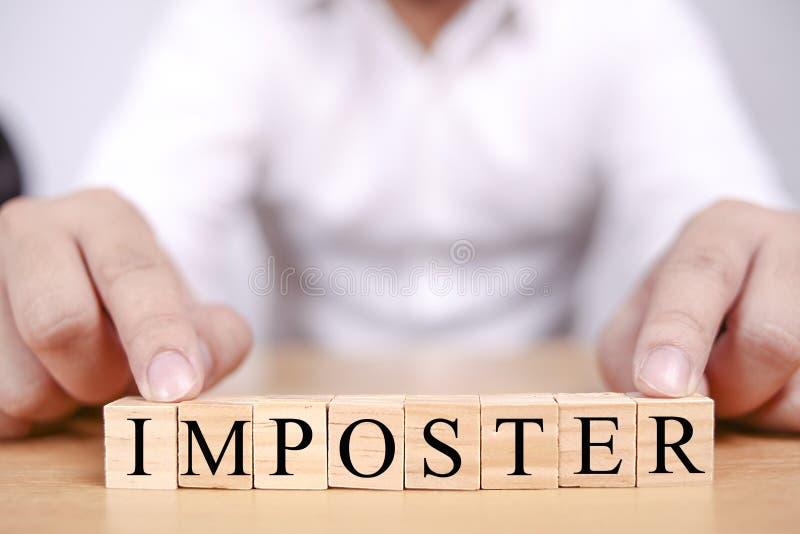 El s?ndrome del impostor, salud mental redacta concepto de las citas imagen de archivo libre de regalías