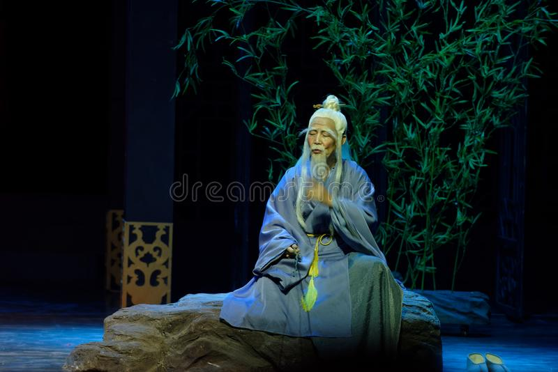 el sacerdote mayor 1-The del Taoist primero actúa: el drama histórico noche-grande de la nueva boda, ` Yangming ` de tres noches foto de archivo