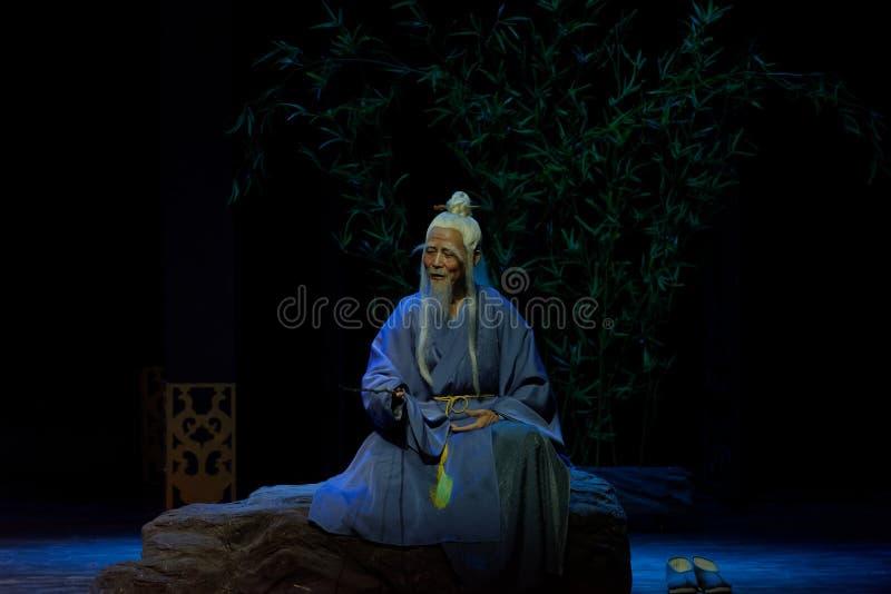 el sacerdote mayor 1-The del Taoist primero actúa: el drama histórico noche-grande de la nueva boda, ` Yangming ` de tres noches imágenes de archivo libres de regalías
