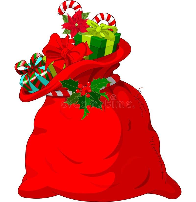 El saco de Papá Noel ilustración del vector