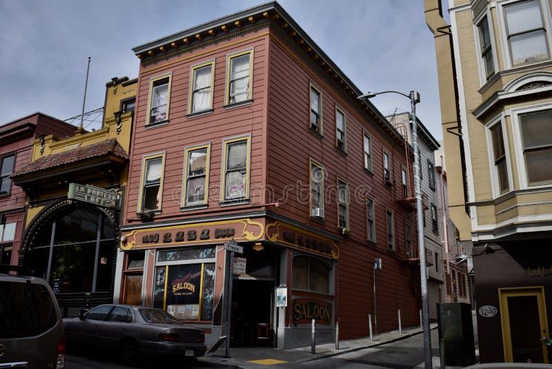 El salón original más viejo del ` s de San Francisco fotografía de archivo libre de regalías