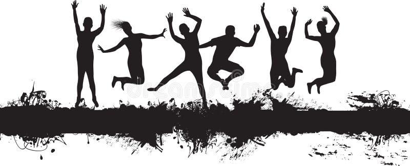 El salto de la gente libre illustration