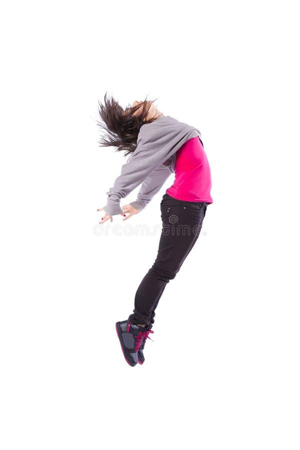 El salto de la mujer fotografía de archivo