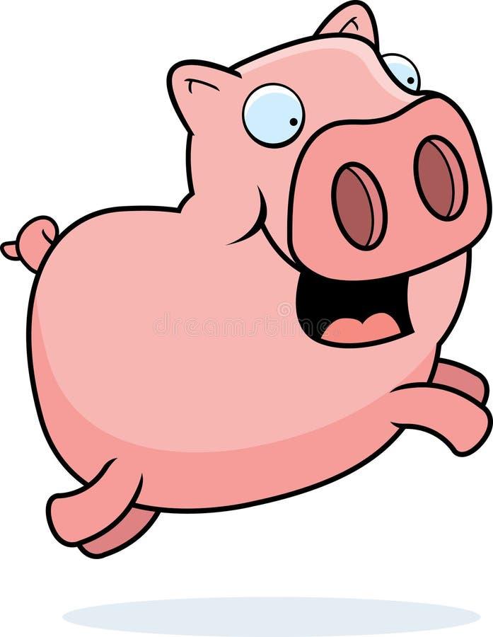 El salto del cerdo ilustración del vector
