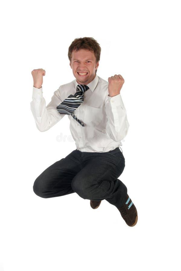 El salto del hombre de negocios imagen de archivo libre de regalías