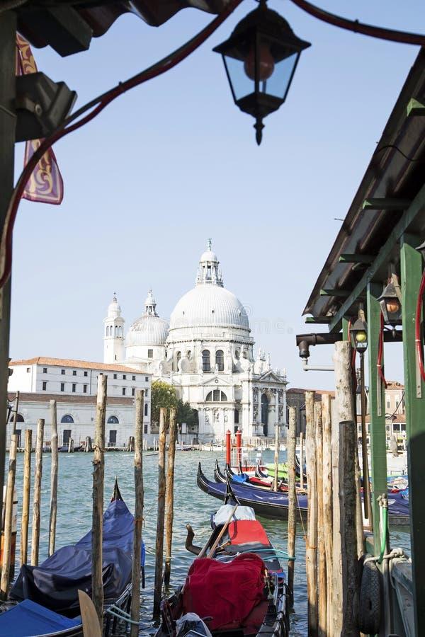 El saludo del della de Santa Mar?a de la bas?lica en Venecia fotos de archivo libres de regalías