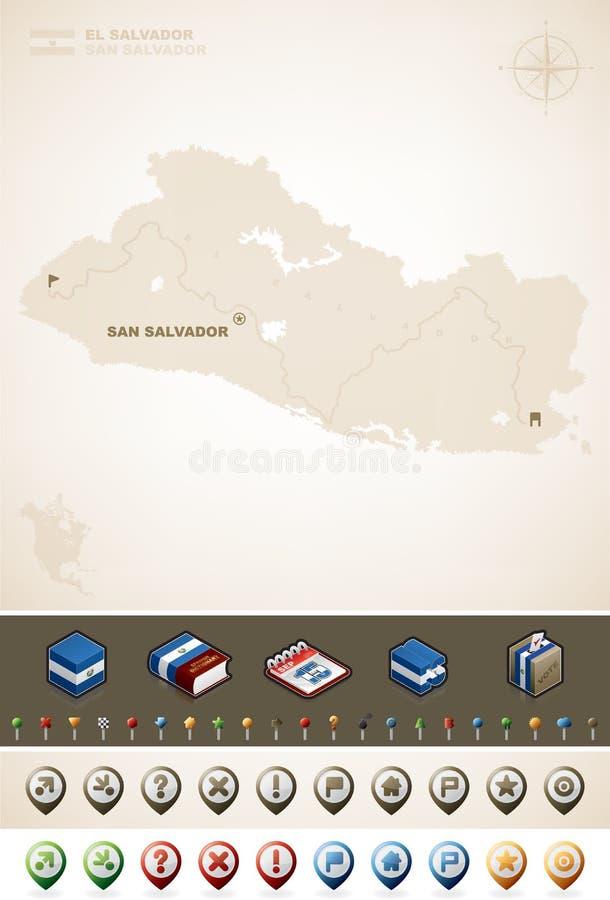 El Salvador stock illustrationer
