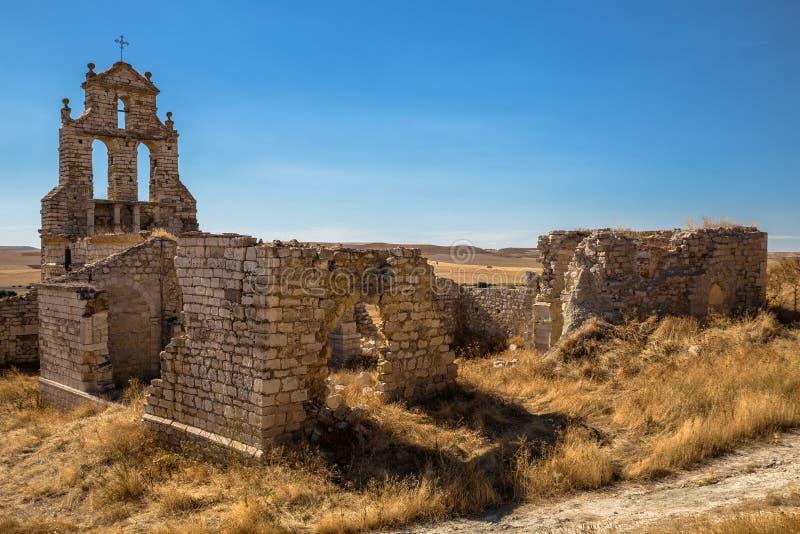 El Salvador Church Ruins. Remain of El Salvador church in Mota del Marques, Spain royalty free stock image