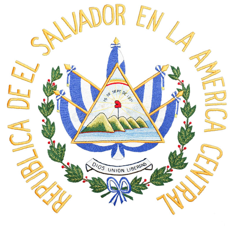 El Salvador Coat Of Arms Stock Image Image Of Official 25634187