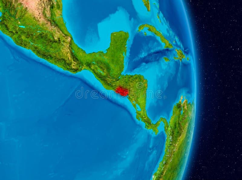 El Salvador da spazio fotografia stock libera da diritti