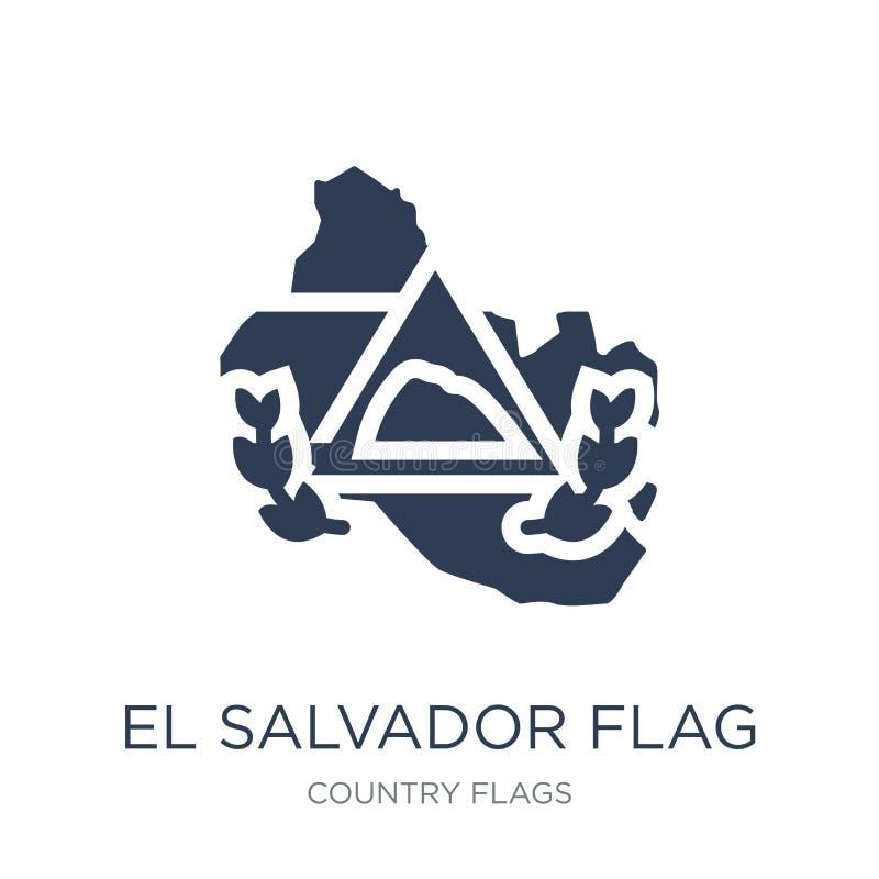 El Salvador Flaggenikone Modische flache Vektor El Salvador Flaggenikone vektor abbildung