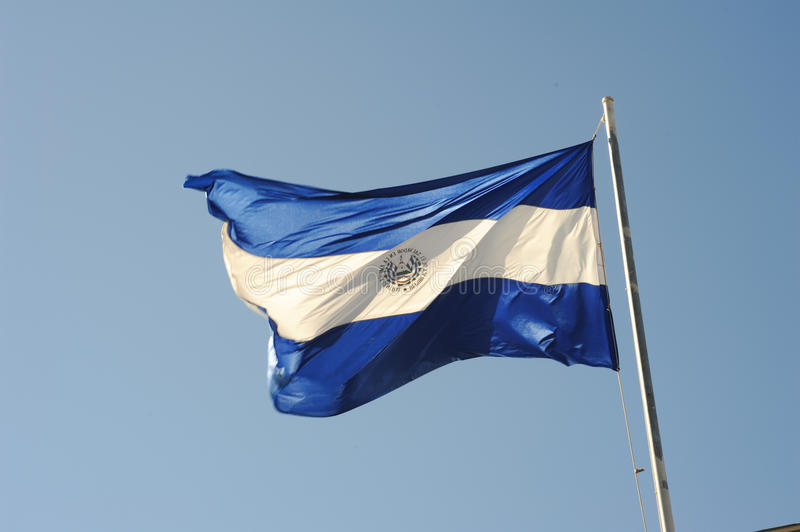 El Salvador national flag. National flag of El Salvador royalty free stock image