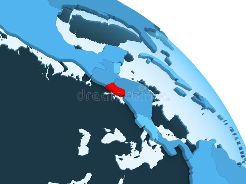 El Salvador sul globo blu illustrazione vettoriale