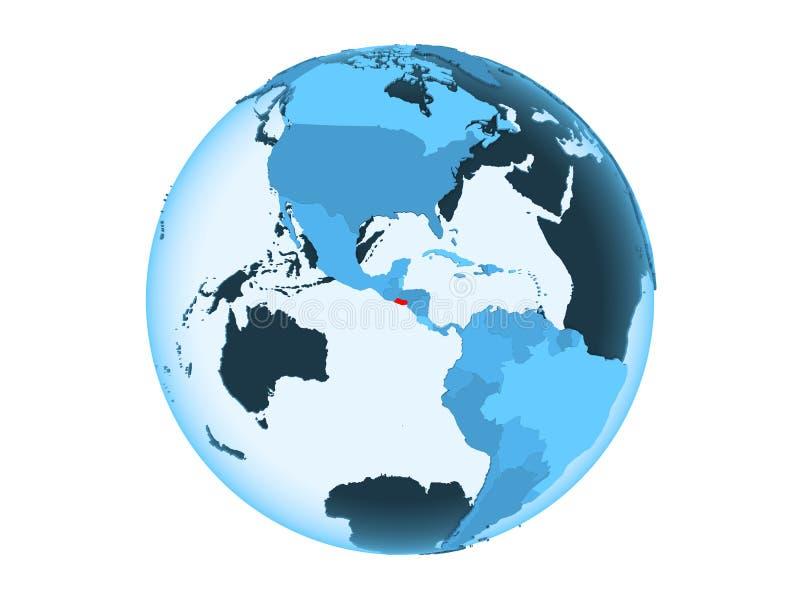 El Salvador sul globo blu isolato illustrazione di stock