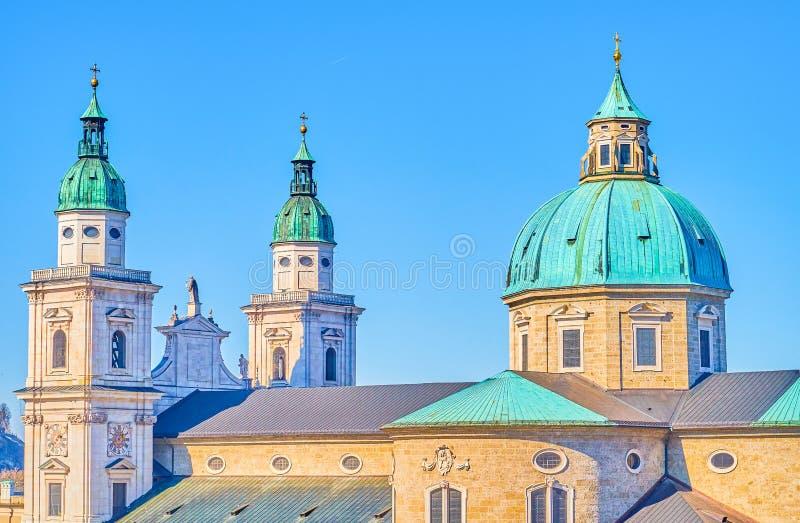 El Salzburger Dom Cathedral, Austria imagenes de archivo